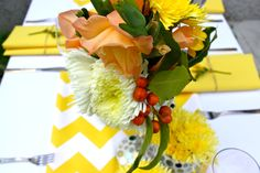 Styling by Decor It Events and Ambrosia Floral Designs, Melbourne  www.decorit.com.au #yellow #chevron #summer #wedding #linenhire #linen #melbourne #melbourneevents #decorations #inspiration #tablelinen #decoritevents (9)