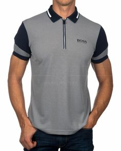 ✅✅✅ Compra Polos HUGO BOSS ® Prek Pro color Azul Marino ✶✶✶ Maurice Boutique - Tienda Online de Ropa de Marca Autorizada ✶✶✶ Mejor Precio Outlet & Envío Gratis a España desde Málaga Polo Rugby Shirt, Mens Polo T Shirts, Polo Tees, Sports Shirts, Sport Shirt Design, Polo Design, Camisa Polo, University Outfit, Red Homecoming Dresses
