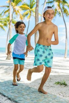 Buy Blue Mint Stripe Boardies by Snapper Rock online - Snapper Rock Cute 13 Year Old Boys, Young Cute Boys, Cute Teenage Boys, Teen Boys, Young Boys Fashion, Boy Fashion, Boys Fashion Summer, Cute Boy Outfits, Beach Outfits