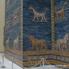 Reconstructed Ishtar Gate from the time of Nebuchadnezzar II, King of Babylon who carried Judah off into captivity.