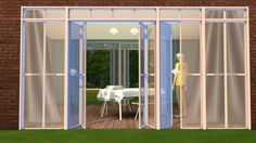 City Lights Windows and Doors for The Sims 4