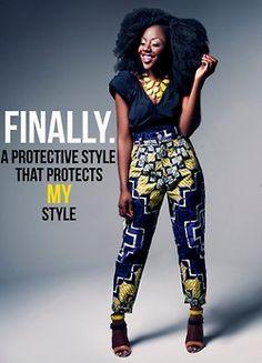 Afro dress style