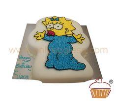 C260 - Maggie Simpson Starpiped Cake