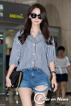 Check out the pictures from SNSD YoonA's arrival in Korea ~ Wonderful Generation