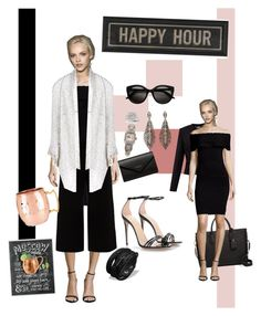 """""""Happy Hour - III"""" by mary-kay-de-jesus on Polyvore featuring Ted Baker, Few Moda, Hamilton, Balenciaga, Longchamp, Gucci, Lafayette 148 New York, Paychi Guh and The Artwork Factory"""