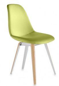 Green Leather Slice Pop Chair by Gruppo Seccio