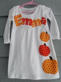 Fall Monogrammed Dress by Mamas Tiny Monkeys