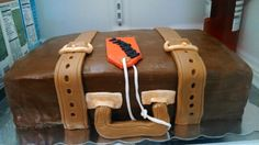 Suprise Suitcase cake! For a family moving away.