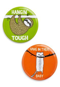 Verbs of Encouragement Magnet Set. When the going gets tough, just look to these orange and lime magnets by Badge Bomb for words of encouragement. #multi #modcloth