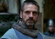 """MAIN CHARACTER CONCEPT: COUNT RAYMOND OF TRIPOLI [Jeremy Irons/""""Kingdom of Heaven"""" Irons actually fits the medieval description of him well.]"""