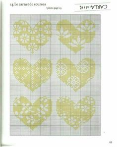 Cute Embroidery, Cross Stitch Embroidery, Cross Stitch Designs, Cross Stitch Patterns, Cross Stitch Heart, Pin Cushions, Cross Stitching, Crochet, Heart Shapes