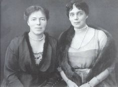 GD Olga & Zenia , sisters of Nicholas , they escaped the revolution on a British ship from Yalta in the Crimea.