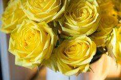 Yellow Roses  by Julia Rozental Photography