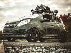 CHEVROLET, CHEVROLET SPARK tuned by ENEMY TO FASHION, matte green, spark, SPARK tuned by ENEMY TO FASHION