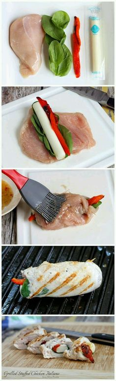 Grilled Chicken italia Roll ups