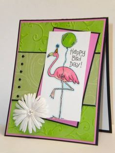 Happy Bird Day! using Stampin Up Tickled Pink.