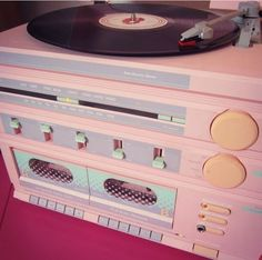Sears 80s pink stereo love the colors