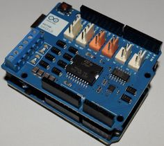 A tutorial for the Arduino Motor Shield with a simple project. The motor shield has quite a few features such as current measuring and the ability to drive a single stepper motor.