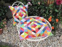 Scrappy Half Square Triangle Quilt/Cushion