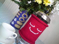 french press cozy $34.00 by mouthymitts on etsy