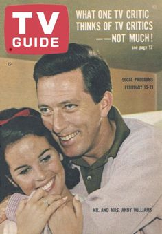 TV Guide, February 15, 1964 - Mr. and Mrs. Andy Williams -  Claudine Longet and Andy Williams