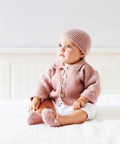 Paras vauvan nuttu on pehmeä – katso 4 kivaa ohjetta! Crochet Jacket, Crochet Hats, Bliss, Beanie, Jackets, Shoes, Fashion, Threading, Knitting Hats