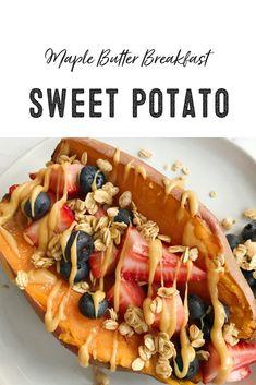 Maple Butter Breakfast Sweet Potato