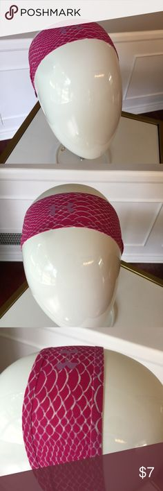 Under armour headband pink NWT Under Armour headband pink color , New with tags , ask if you have any questions THANK YOU Under Armour Accessories Hair Accessories