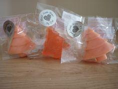 PASSION FRUIT - XMAS TREE HANDMADE SOAPS. £2.25