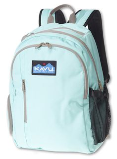 KAVU Whidbey-Lagoon-Six compartment design with adjustable padded shoulder straps with air mesh padded back panel, separate laptop compartment, one side mesh pocket with cord-lock cinch, one fleece-lined pocket, and multiple interior organizational compartments and key clip.