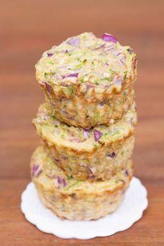 Muffin Salgado de Abobrinha e Couve-flor   Vídeos e Receitas de Sobremesas