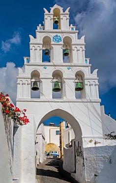 Megalochori bells, Santorini - Greece ຼ⁎ ຼ⁎ - Greece Cruise, Greece Honeymoon, Greece Travel, Santorini Island, Santorini Greece, Mykonos, Greece Wallpaper, Wonderful Places, Beautiful Places