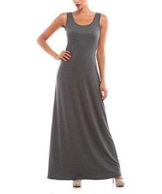 Another great find on #zulily! Charcoal Racerback Maxi Dress #zulilyfinds