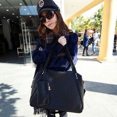 $9.56 Casual Leather Women's Shoulder Bag With Solid Color and Checked Design