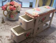 Tea Cottage Pretties: A SET OF SEWING DRAWERS
