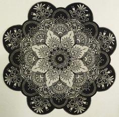 """ Black and White snowflake <3 """