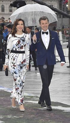 Crown Prince Frederik and Crown Princess Mary attend a gala banquet at the Opera in Oslo as part of the celebrations of King Harald V and Queen Sonja's 80th birthdays. May 10, 2017.