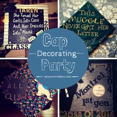 It's graduation time which means if you get to keep your graduation cap you can decorate it! A great party to create with your friends before graduation or for parents to create for their seniors ...