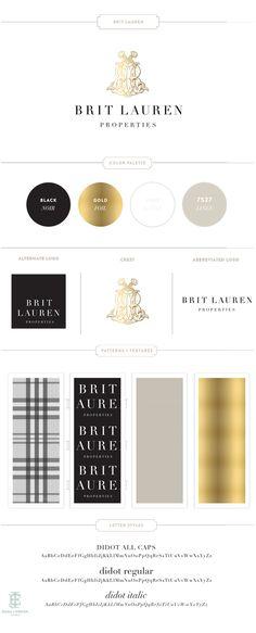 BritLauren Branding Design by Emily McCarthy ( EMMA J DESIGN )