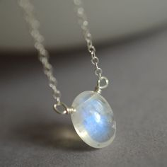 June birthstone Rainbow moonstone necklace by KahiliCreations