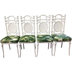 Image of Faux Bamboo Metal Chairs by Kessler - Set of 4