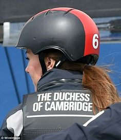 Kate's life jacket was personalised at the back with The Duchess of Cambridge