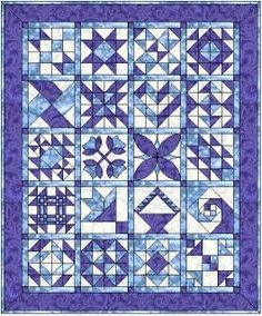 Singing the Blues - Free Block of the Month Quilt Patterns – BOMquilts.com