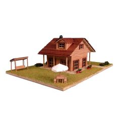 Chalet en Kit: Chalet moderno con columpio // Cottage Kit: Modern House with swing. Cottage Kits, Gazebo, Outdoor Structures, Cabin, House Styles, Home Decor, Chalets, Homemade Home Decor, Kiosk
