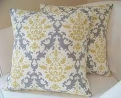 yellow and grey pillows - Google Search