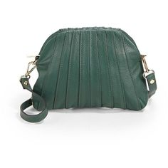 Kooba Layla Mini Crossbody Bag/Forest Green ($79) ❤ liked on Polyvore featuring bags, handbags, shoulder bags, green leather handbag, leather shoulder handbags, leather shoulder bag, leather crossbody handbags and leather cross body handbags