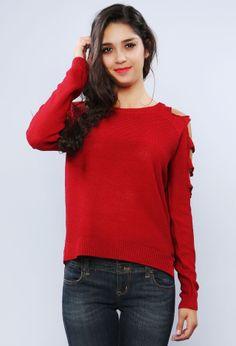 Sleeve Detail Sweater   Shop Sweaters at Papaya