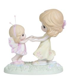 Look at this #zulilyfind! Woman & Butterfly Girl Dancing Figurine by Precious Moments #zulilyfinds
