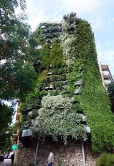 """""""Vegitecture"""" Jardí Tarradellas, Barcelona's Tallest Residential Vertical Garden. I know a lot of buildings with bare faced walls that could use this!"""
