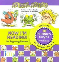 Now I'm Reading! Level One: Animal Antics Phonics Books, Nora, Short Vowel Sounds, Leveled Readers, Animal Antics, Early Readers, Reading Levels, Kids Reading, Learn To Read